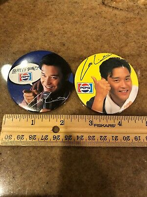 2 Pepsi Advertising collector Pinback Pin Buttons
