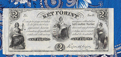 Great Historic Banknotes Hungary 2 Forint 18oo's P. S142r Serie D Unifaced UNC
