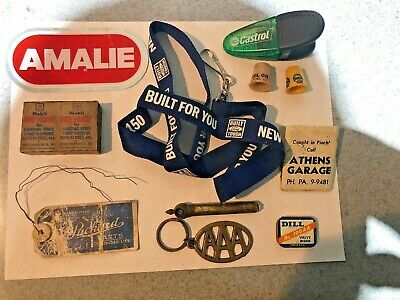 vintage Lot Of 11 Gas Oil advertising Collectibles
