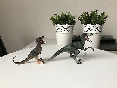Papo Running T-Rex Dinosaur Model Small Plastic Figures Moving Jaw Lot Toy Used