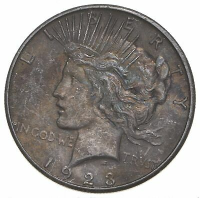 Early - 1923-S - Peace Silver Dollar - 90% US Coin *438