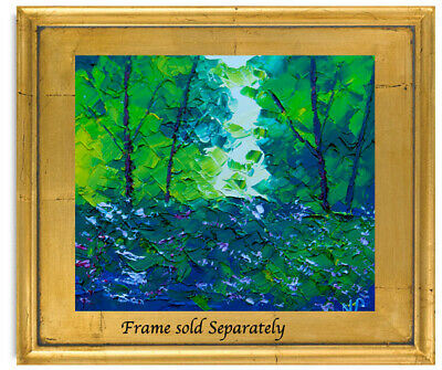 Green Forest Natasha Petrosova Original Oil Painting Impressionism 012