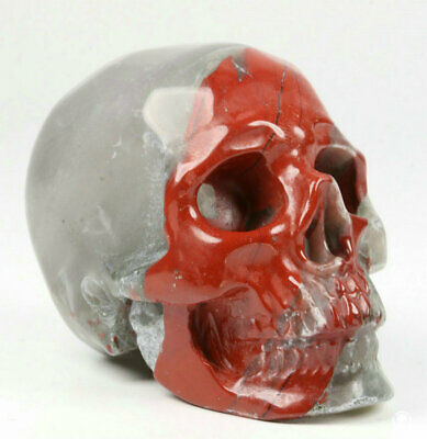 """2.0"""" African Bloodstone Carved Crystal Skull, Realistic, Crystal Healing"""