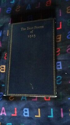 The Best Poems of 1923, First Edition, 2nd Printing, Hemingway Poem, Hardcover