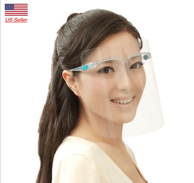 New Face Shield - Safety Clear Transparent Face Shield with Glasses Anti Fog