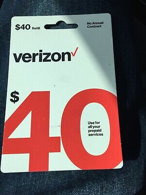 Verizon Prepaid $40 Card,after Buy It Provide Your Phone # For Direct Refill