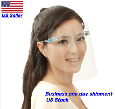 *New Face Shield* - Safety Clear Transparent Face Shield with Glasses Anti Fog