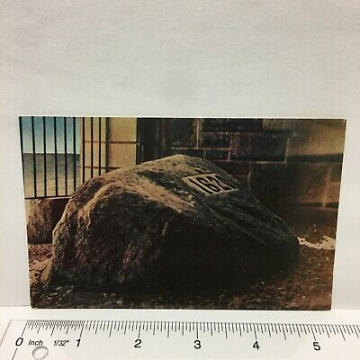 This Card is Circa 1970/'s. Massachusetts Vintage Postcard of Plymouth Rock in Plymouth Landing Place of the Pilgrims on December 21st 1620