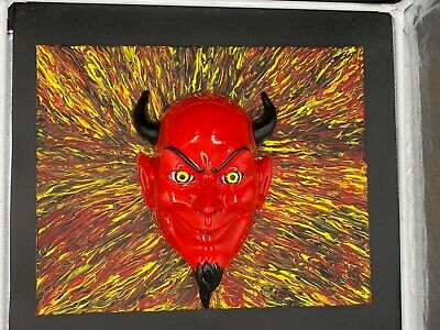 Devil Mask Eyes Original Painting Art By Aaron Goodwin 1/1 Canvas Size 16x20