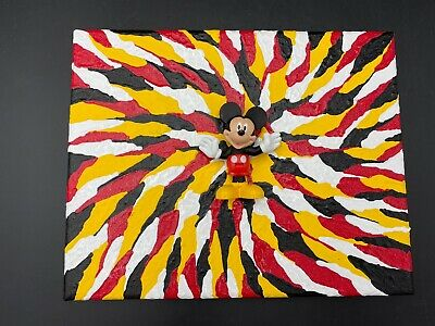 Mickey Mouse Original Art By Aaron Goodwin 1/1 Painting Canvas 8x10 Disney