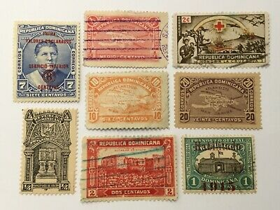 old stamps DOMINICAN REPUBLIC    x 8