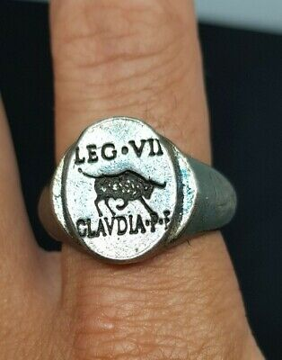 Ancient Roman Silvered Legionary Ring