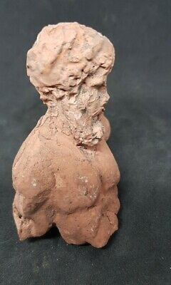 Ancient Greek Terracotta Bust Statue Fragment Of Zues
