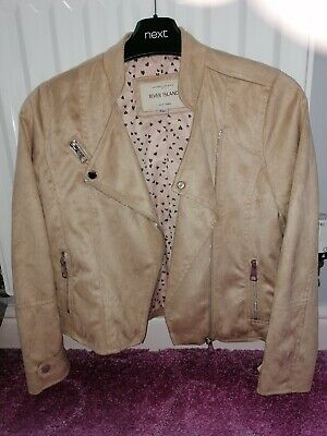 Girls Beige Suede River Island Jacket Size 10 Years