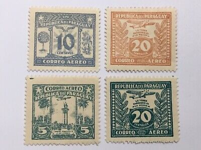 old stamps PARAGUAY   x 4