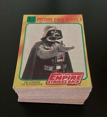 1980 Topps Star Wars The Empire Strikes Back Series 3 Complete Set - 88 Cards