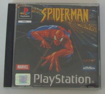 SPIDER-MAN - PS1 - PLAYSTATION 1 GAME - MARVEL - ACTIVISION - COMPLETE w/ MANUAL