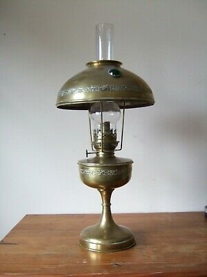 Antique French Brass Oil Lamp