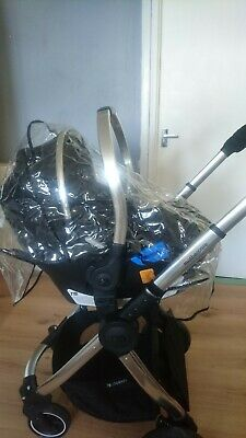 Baby travel system used Mothercare journey base and baby car carrier