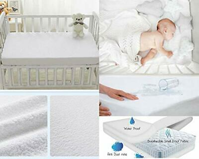 IMFAA 100% Water Proof and Non Noisy Extra Deep Terry Towel Cot Cot(60x120)