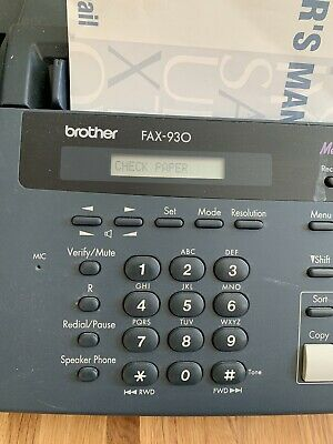 Brother Fax-930 With Telephone And Answering Machine