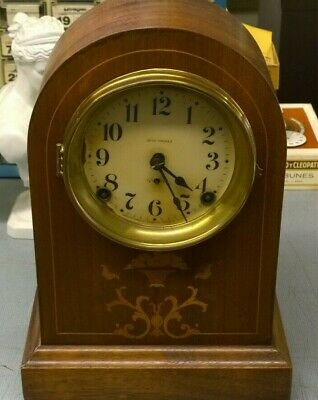 Antique Working Seth Thomas Mantle Cabinet Chime Clock / Made in United States
