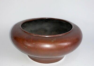 A Chinese iron red bronze censer, xuande