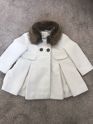Stunning Sparkly Girls Monsoon Coat age 2-3 with Detachable Furry Collar