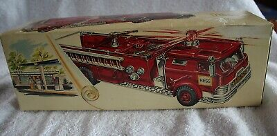 Ventage 1970 Hess Toy FireTruck With All Inserts And Battery Card