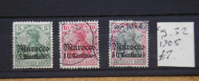 Germany, Morrocco occupation, 1905, GU.