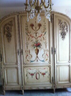 Antique French Painted Knock To Amoire / Wardrobe