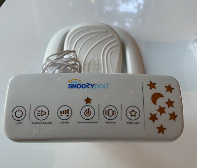 Halo Snoozy Pod Vibrating Bedtime Soother - White - Tested & Working! EUC