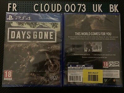 Days Gone UK PAL New Sealed for Sony PlayStation 4 PS4