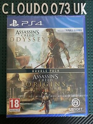 Assassin's Creed Origins + Odyssey Double Pack NEW! for Sony PlayStation 4 PS4
