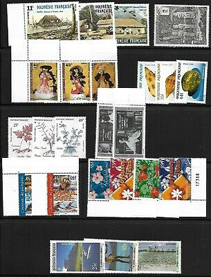 France Polynesian Mnh Lot / Collection Of 39 Sets & S/S