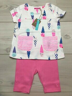 Joules Baby Girls t-shirt and shorts set 6-9 months