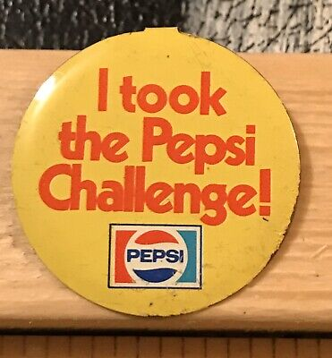 I Took The Pepsi Challenge Button