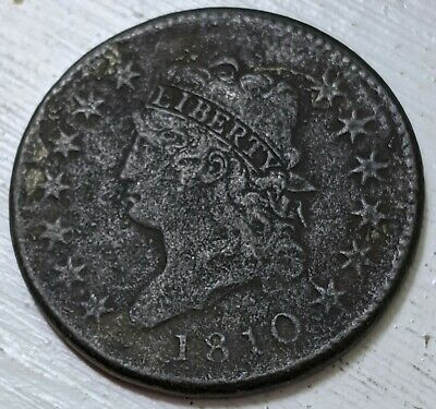 1810 Classic Head Large Cent XF Details (Corr.) Coin