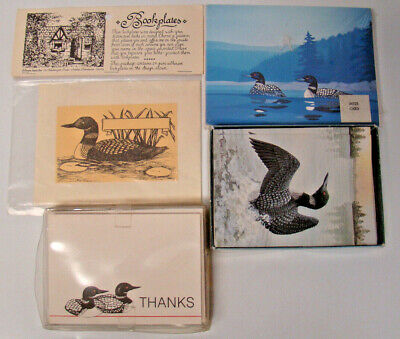 4 LOON BOX SETS (2) NOTE CARDS (1) THANK YOU CARDS (1) BOOKPLATES New In Pkg