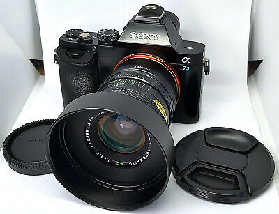 Vintage 1980's Declicked 28mm f2.8 MC Lens with Sony E NEX Mount for A7 A7r A7s
