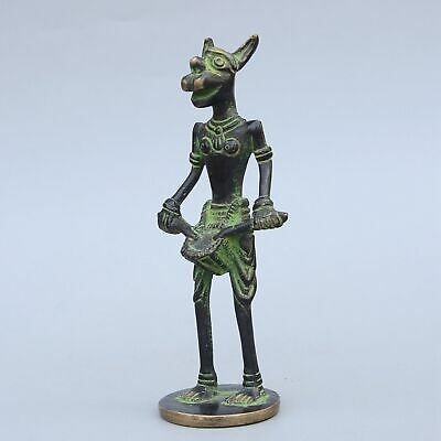 Collectable China Old Bronze Handwork Carve Myth Animal Bring Luck Unique Statue