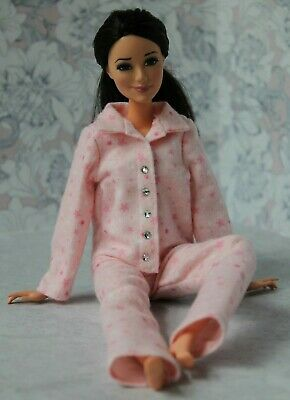 Flannel Pajamas for Dolls. №328 Clothes for Barbie Doll