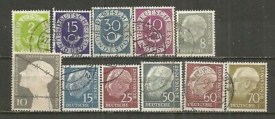 Germany, 11 Various,  Used