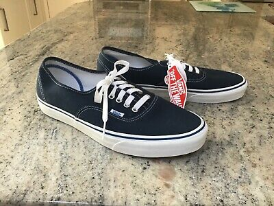 "Vans ""Off The Wall"" Mens Uk Size 10 New With Tags Navy Blue Lace Up Shoes."