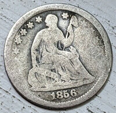 1856 Seated Half Dime Good- Coin