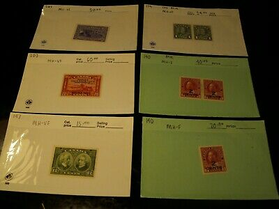 Canada - 6 Diff. Better Mint Hinged Fine - Vf Items. $209.00 Total Cat. Value