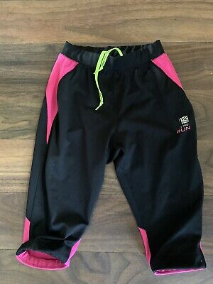 Karrimor Black Pink Crop Jogging Bottoms Kids Age 9-10 Years