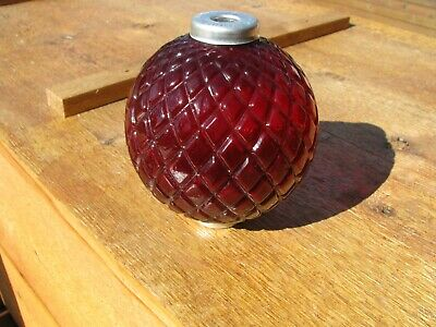Red Flat Quilt Old Lightning Rod Ball