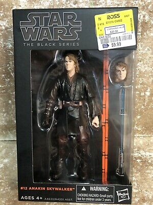 2013 Star Wars BLACK SERIES #12 ANAKIN SKYWALKER 6in Figures NIB orange line