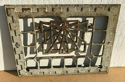 Vtg Antique Cast Iron Register Wall Grate Heat Vent Cover Architectural Salvage